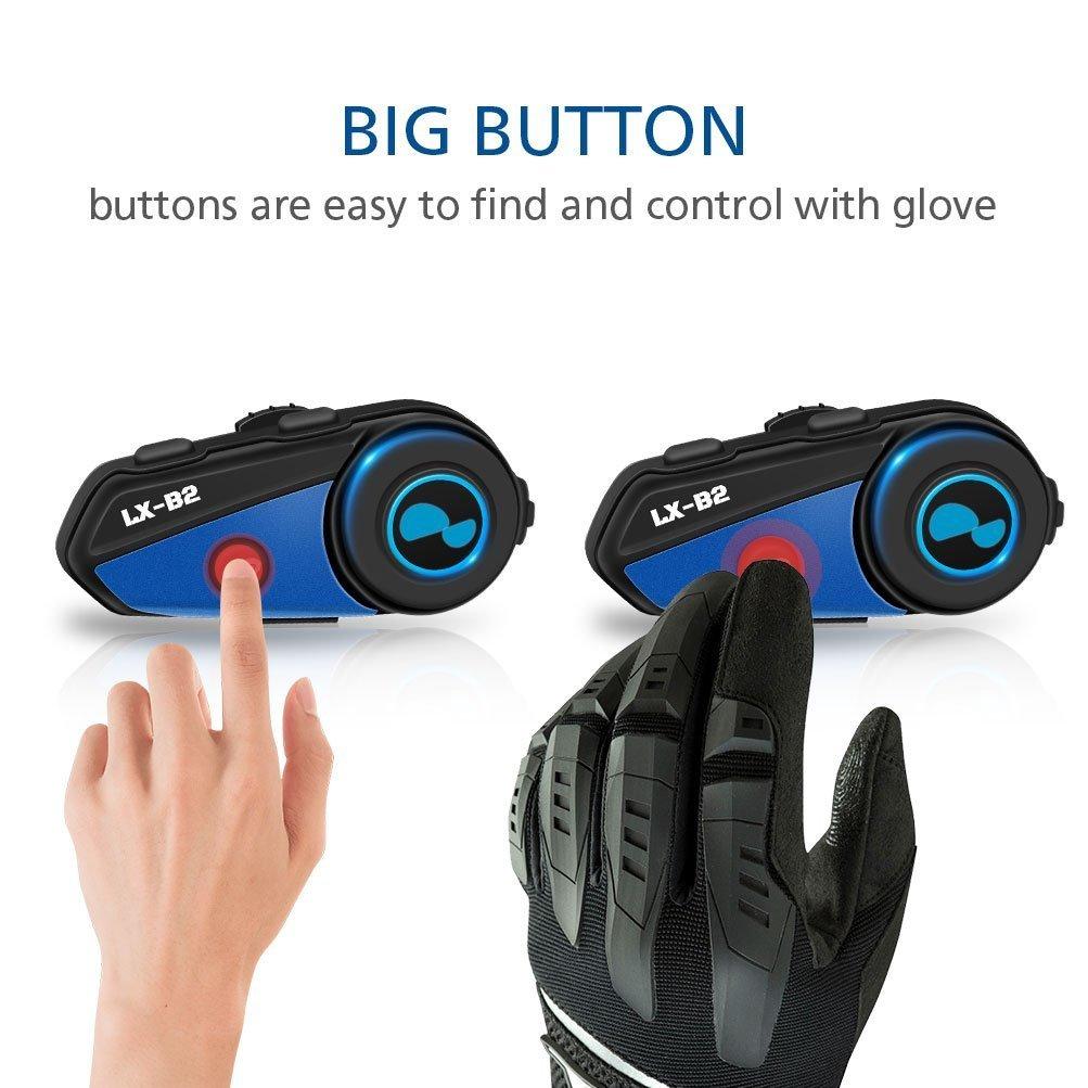 LEXIN LX-B2 MotoFõn Bluetooth Motorcycle Helmet Intercom Headset